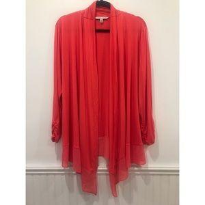 Adrienne Vittadini Tops - [Adrienne Vittadini] Rouge Red Cardigan Blouse